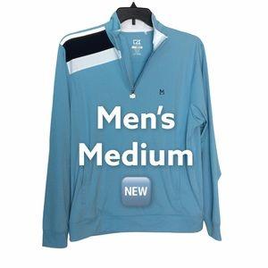 Cutter & Buck M Full Zip Golf Track Jacket New